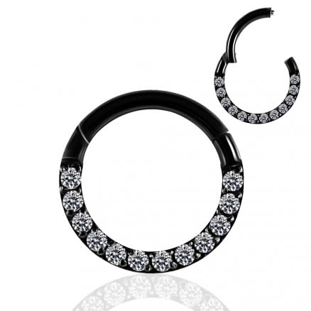 Pave Crystal Seamless Hinged Clicker Segment Ring
