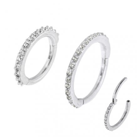 Micro Setting CZ Stones Hinged Segment Ring