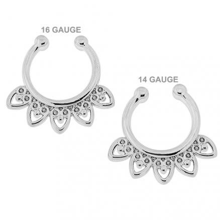 Celestial Filigree Non Piercing Fake Clip on Septum Ring