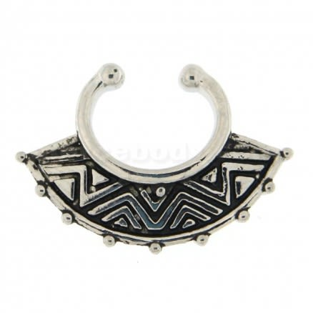 Tribal Arts Non Piercing Fake Clip on Septum Ring