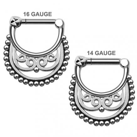 Tribal Pattern Nose Septum Clickers