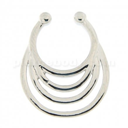 Multi Waves Non Piercing Fake Clip on Septum Ring