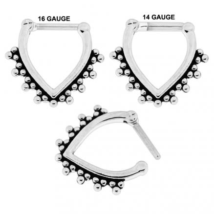 Tribal Dots V Shape  Nose Septum Clicker Piercing