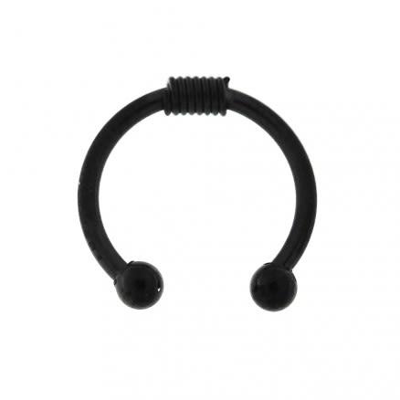 Surgical Steel Circular with Spring Fake Septum Piercing