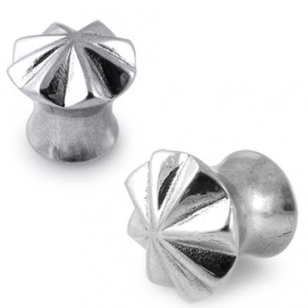Steel Ear with Circular Step Cut