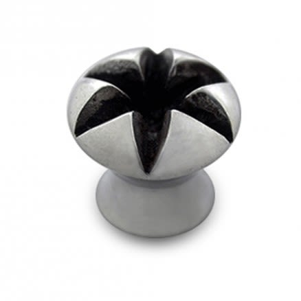Steel Ear Plug with Flower Crater