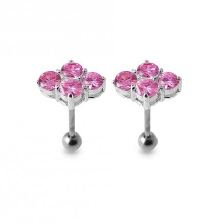 Multi Jeweled Silver Ear Jewelry