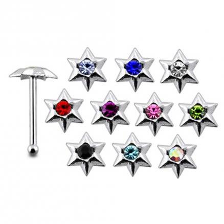 925 Silver Jeweled Nose stud
