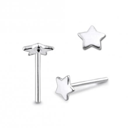925 Silver Star Nose stud