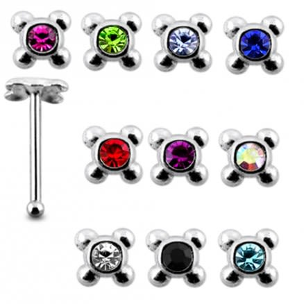 925 Silver Jeweled 20G Nose Stud Body Jewelry