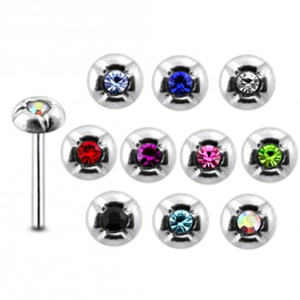 925 Silver Jeweled Nose Stud Body Jewelry