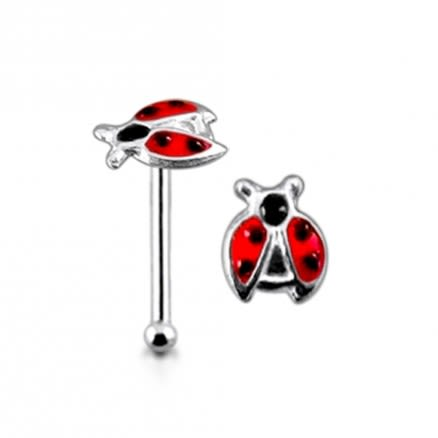 925 Silver Hand Painted Bug Nose Stud