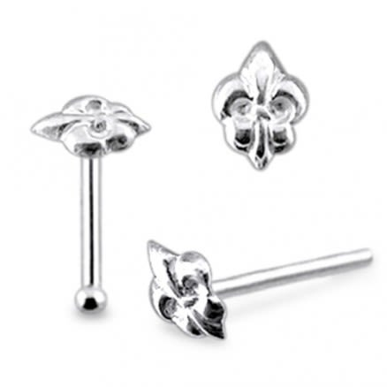925 Silver Victorian Crown Nose Stud