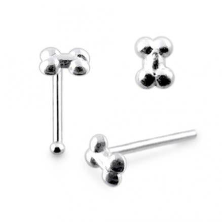 925 Silver Bone Nose Stud