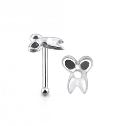 925 Silver Scissors Nose Stud