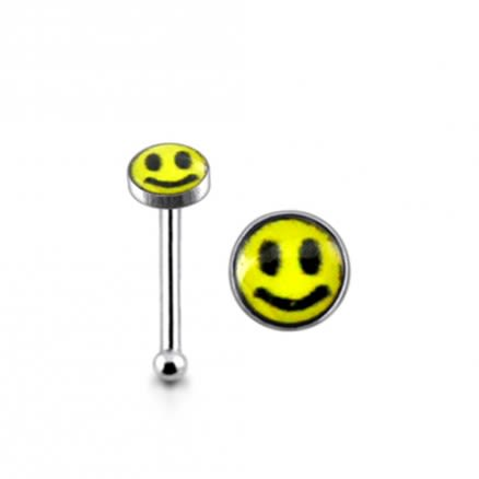 925 Silver Smiley Nose Stud