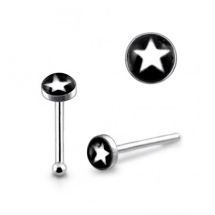 925 Silver Nose Stud With Tiny Star