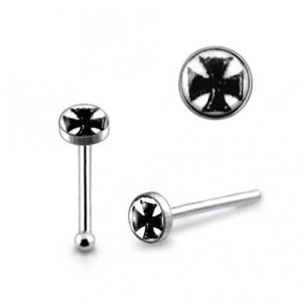 925 Silver Irish Cross Nose Stud