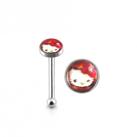925 Silver Hello Kitty Logo Nose Pin