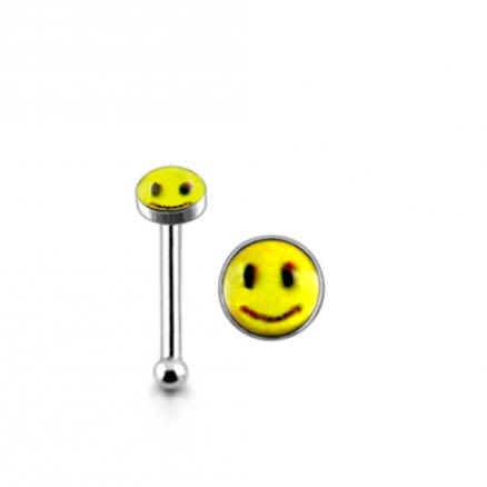925 Silver 2mm Smily Nose Stud