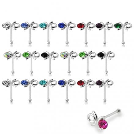 925 Silver Ant Ball End Nose Stud