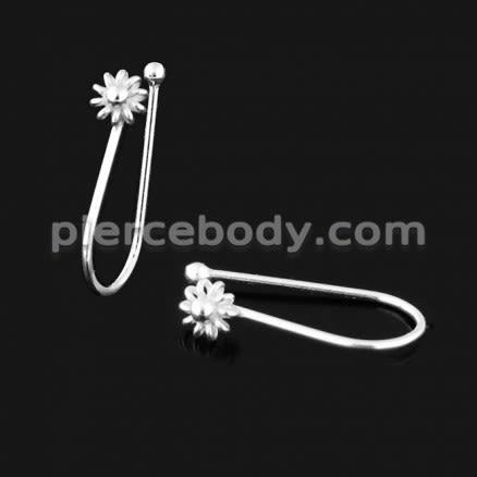 925 Sterling Silver Flower Nose Clip