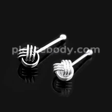 925 Sterling Silver Celtic Knot Straight Nose Stud