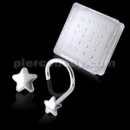 925 Silver Star Nose Screw
