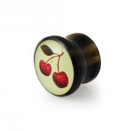 Synthetic Organic Ear Plug with Cherry Logo