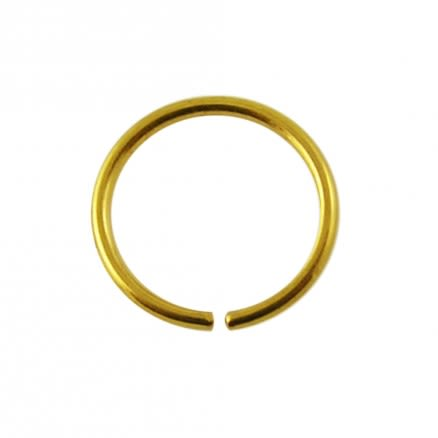 316L SS Anodized Gold Nose Ring