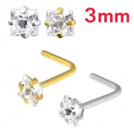 Gold PVD Anodized Jeweled 20G Nen plimen