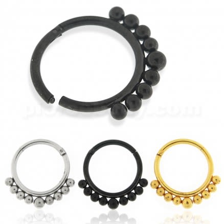 Tribal Paved Balls Hinged Segment Ring