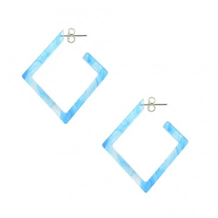 26mm Aqua UV Diamond Ear Hoop