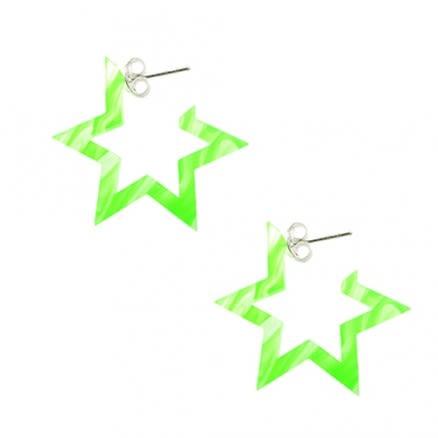 Peridot UV React 6 Star Ear Hoop