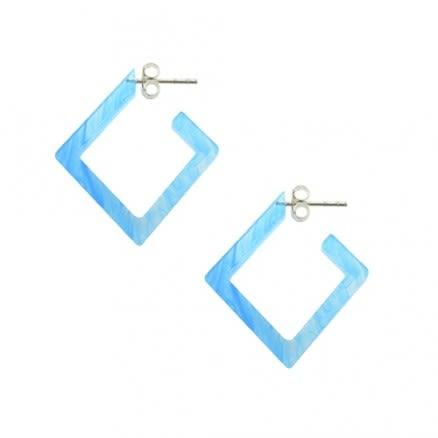 Aqua UV Diamond Ear Hoop