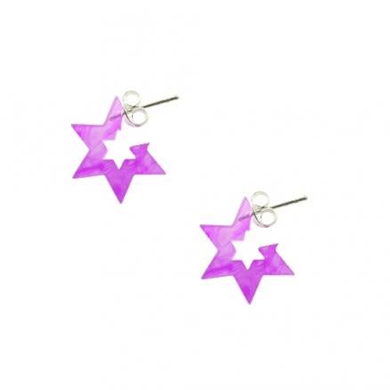 6mm UV Acrylic React 6 Star Ear Hoop