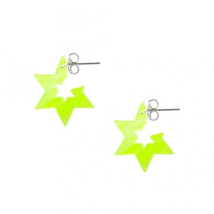 6mm UV React 6 Star 925 Sterling Silver Ear Hoop