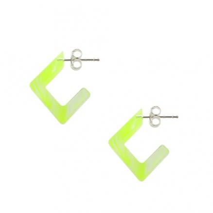 Yellow UV Ear Hoop