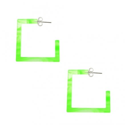 Peridot UV Square Ear Hoop