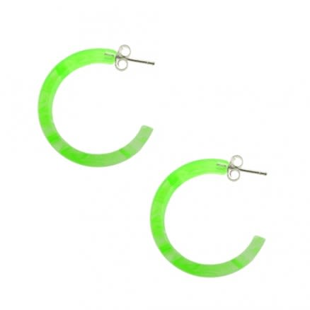 Peridot UV Circle Ear Hoop