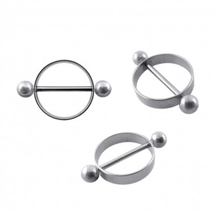 14mm Titanium Nipple Rounder with Balls