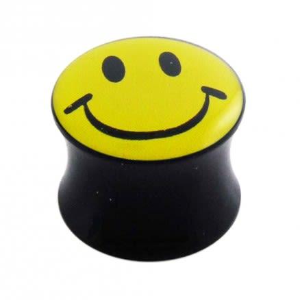 Double Flared Smiley Logo Ear Plug