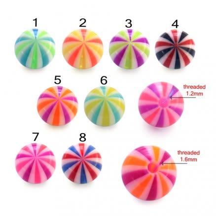 TIGER ZEBRA PRINT EYEBROW UV Fancy Balls