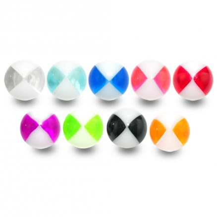 UV Fancy Acrylic Beach Ball Prints Pircing Balls