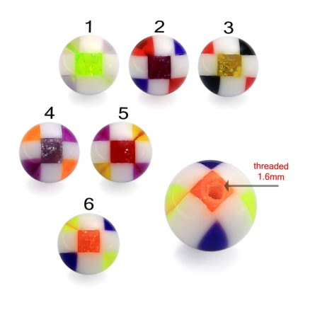 UV Fancy Hand Painted marble Piercing Balls