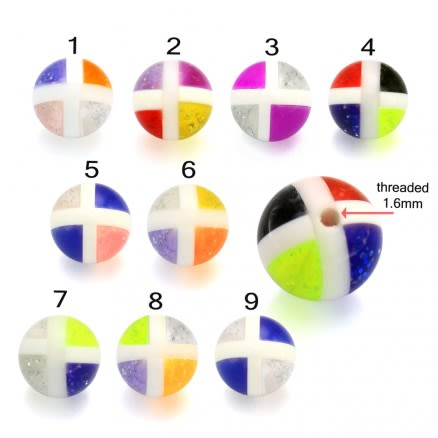 Colorful Hand Painted Fancy Design Thread Ball