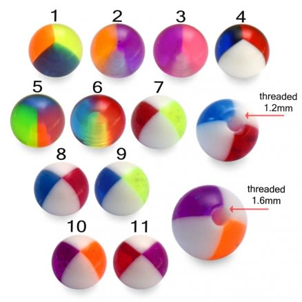 UV Fancy Assorted Hand Painted Beach Balls