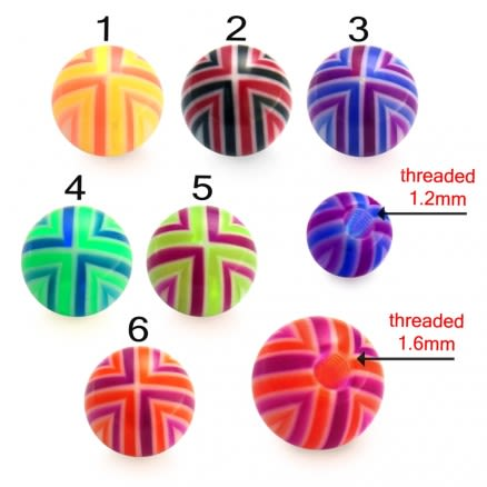 UV Colorful Hand Painted Fancy Strips Thread Ball