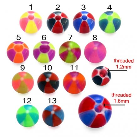 UV Colorful Hand Painted Fancy Thread Ball