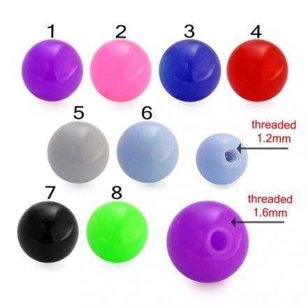 UV Fancy Tongue Lip Plain Color Pircing Balls